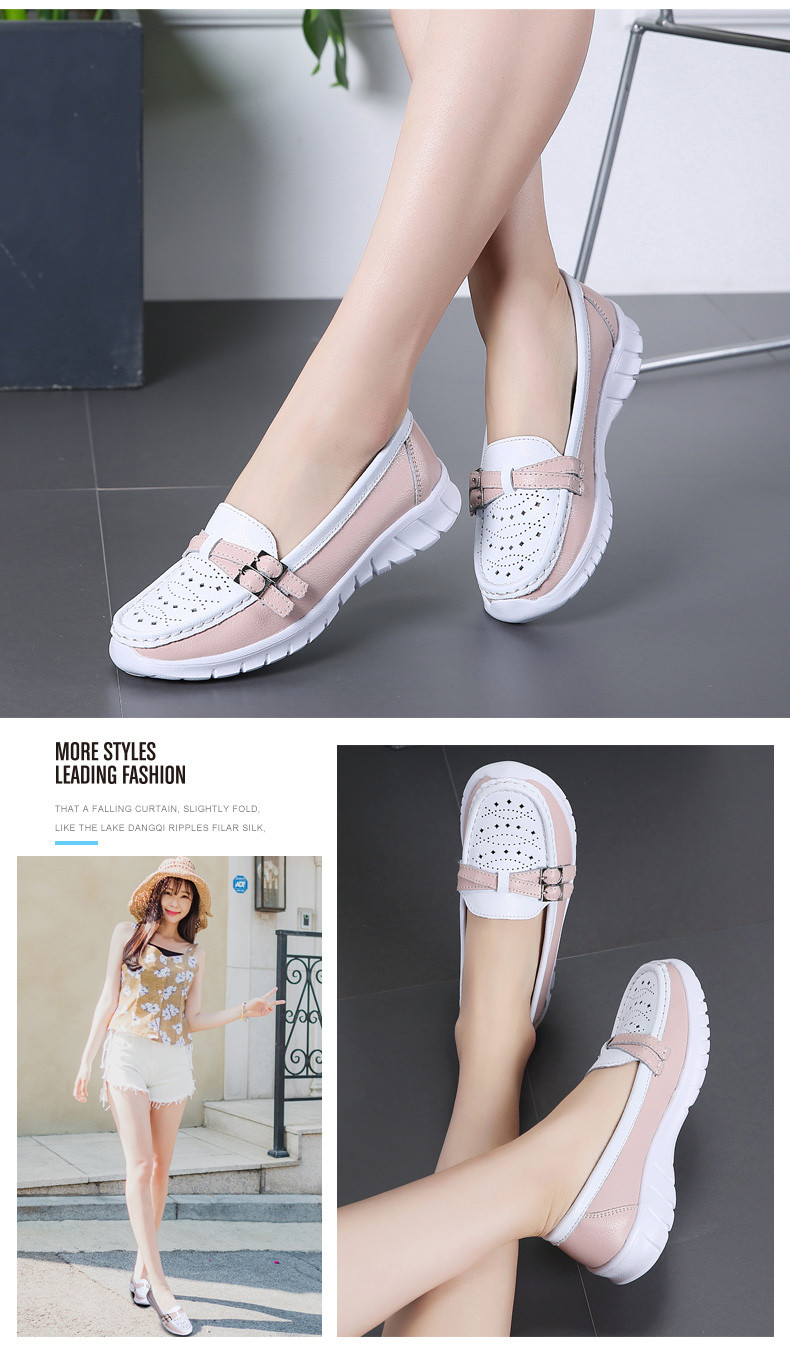 Spring Women Shoes Genuine Leather Handmade Flats Casual Shoes Woman Slip-on Loafers Ballet Flats Ladies Shoes Slipony (11)