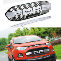 Car Accessories Silver F150 style Front Grill Car Grille Ecosport Front Bumper Grille For Ford Ecosport 2012~2016