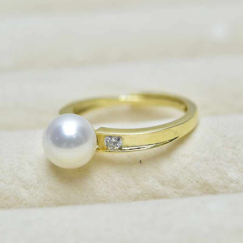 ZHBORUINI Fashion Pearl Ring Round Pearl Jewelry Natural Freshwater Pearl 925 Sterling Silver Jewelry Rings For Women Wedding vintage pearl ring ancient real 925 sterling rings for women 2019 new fashion bohemia jewelry