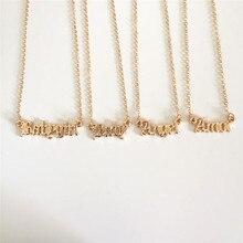 Высокое качество, новинка, модные ювелирные изделия, золотое ожерелье с надписью Babygirl, именные подвески, прекрасный подарок для мамы