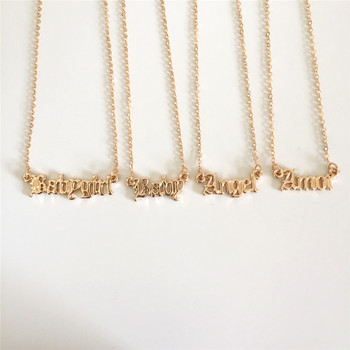 Wysokiej jakości 2019 nowych moda biżuteria złota Babygirl naszyjnik listowy nazwa wisiorki uroczy prezent dla mamy tanie i dobre opinie ZIHHO Zinc Alloy Iron alloy Kobiety Wisiorek naszyjniki Neoklasyczny Gothic Link łańcucha Metal Letter All Compatible