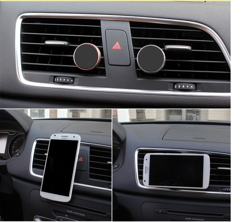 Universal Car Phone Holder Magnetic Air Vent Mount Stand 360 Rotation Mobile Phone Holder for iPhone 7 7plus 6s Samsung Galaxy