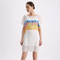 summer new short sleeved dress suspenders + medium length T shirt dress straight tube two piece dress free shipping