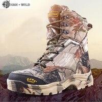 Мужские военные армейские ботинки кожаные непромокаемые камуфляжные принты спецназ дезерты охотничья обувь армейские тактические ботиль...