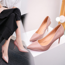 e7fa0d36a1ce 2019 New Fashion High Heels Women Pumps Thin Heel Classic White Red Nude Beige  Sexy Prom Wedding Shoes Size 36-39