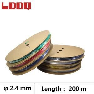 LDDQ 200m 3:1 rurka termokurczliwa klej z klejem 2.4mm drut rękaw kablowy termokurczliwy siedem kolorów termokurczliwy wodoodporny termo retractil