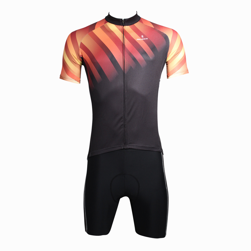 ФОТО cycling jerseys Free Shipping 2016 Men Diagonal stripes top Sleeve Cycling Jersey Red Bike / Bicycle Apparel Black Cycling Clo