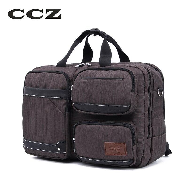2017 CCZ New Men Handbag Mens Big Capacity Luggage Bag with Two Straps For Travel Shoulders Bag Male 14 Inch Laptop Bag HB8011