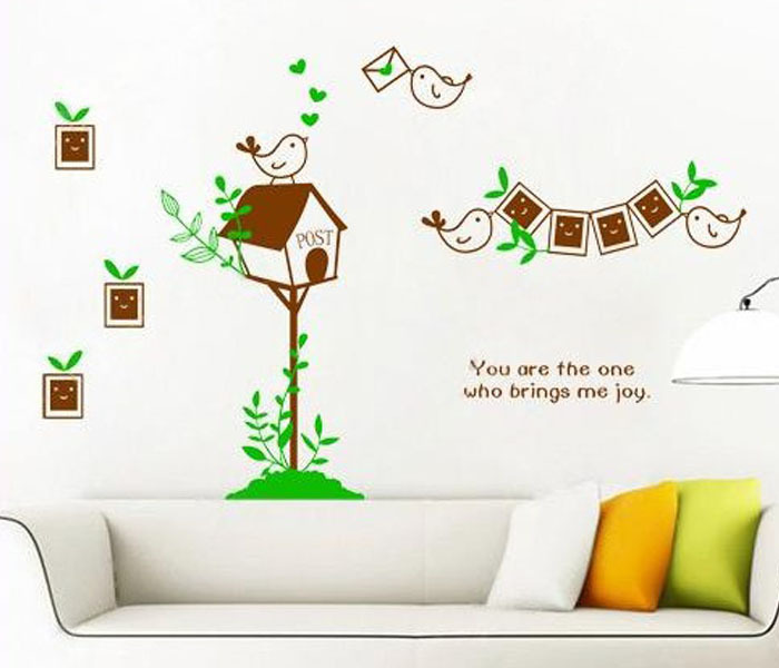 Wall Decoration Stickers wall decor bird 3d promotion-shop for promotional wall decor bird