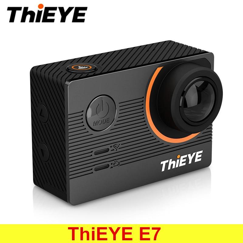 ThiEYE E7 родной 4 К Wi Fi спорт действий видео Камера 14MP HD с 2 ''ips Экран Водонепроницаемый действие Камера поддержка голос Управление