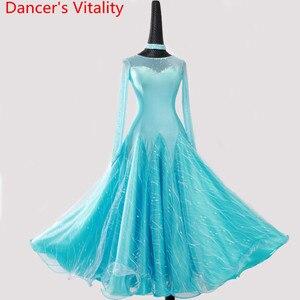 Image 3 - 2018新しい女性ダンスドレス女性社交パフォーマンスダンスドレス女性はドレスワルツ
