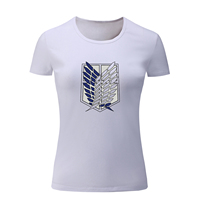 IDzn Brand Attack On Titan Cosplay T Shirt Women Summer T Shirt For Girl CAMERON DALLAS