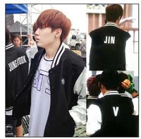 BTS Bulletproof Cadet SUGA JIMIN V JUNGKOOK J HOPE Rap Monster Baseball Uniform Bulletproof Boy Scouts