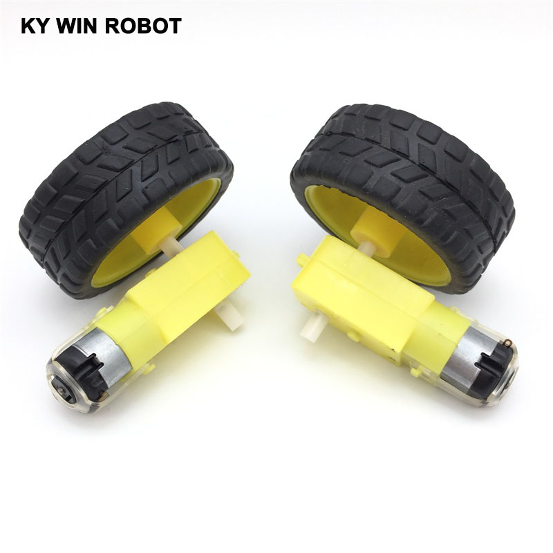 free-shiping--2lot-package-deceleration-dc-motor-supporting-wheels-smart-car-chassis-motor-robot-car-wheels-for-font-b-arduino-b-font