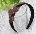 Diamante broadside faixas de cabelo franja das mulheres moda rhinestone headbands acessório de cabelo elegante 7 cores