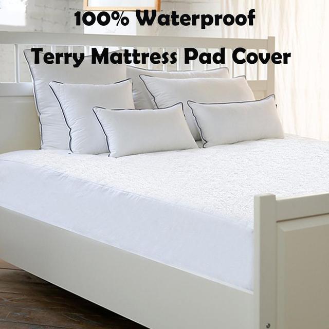 80x200cm Terry Mattress Cover Deep Pocket Waterproof Mattress