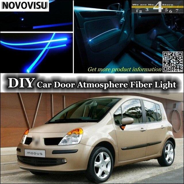 novovisu voor renault modus 2004 2012 interieur omgevingslicht sfeer glasvezel band lichten binnen deur panel