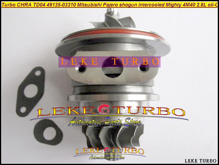 купить Turbo Cartridge CHRA TD04 49135-03310 49135-03130 Turbocharger For Mitsubishi Pajero 2 shogun intercooled Mighty Truck 4M40 2.8L по цене 6021.18 рублей