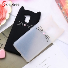 Soaptree 3D Cute Cat Ear Case For Huawei Honor 6C Cases Soft Protective Silicone Cover On the for Nova Smart Bumper Funda