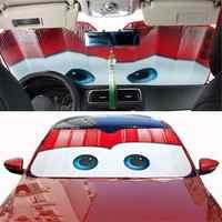 130x70CM Cartoon Auto Visier Auto Solar Schutz Folien Augen Auto Front Fenster Windschutzscheibe Visier Universal Auto Abdeckung auto-styling
