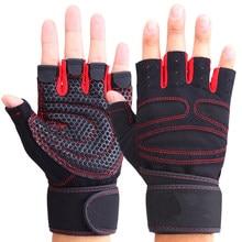 6598aba93 الرجال النساء نصف الإصبع قفازات رفع الاثقال قفازات حماية المعصم رياضة تدريب  الاثقال الرياضة قفازات أصابع
