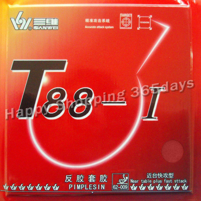 Sanwei T88-I T88 1 Pips-in Table Tennis  Pingpong Rubber With Sponge