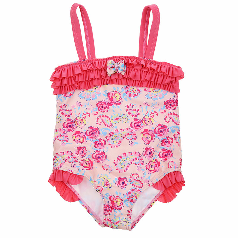 Toddler Girl Swimsuit Ruffle Floral One Piece Swim Wear 1-5 Years Baby Girl Swimsuit Children Swimming Suits Kids Bathing Suit Skilful Manufacture