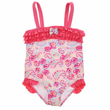 цена на Toddler Girl Swimsuit Ruffle Floral One Piece Swim Wear 1-5 Years Baby Girl Swimsuit Children Swimming Suits Kids Bathing Suit