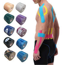 2Size Kinesiology Tape Athletic Tape Sports Muscle Tape Bandage Care Fitness Tennis Running Knee Muscle Protector 7pcs lot kinesiology tape physical therapy sports bandage recovery athletic fitness protector knee pain muscle elastic strap