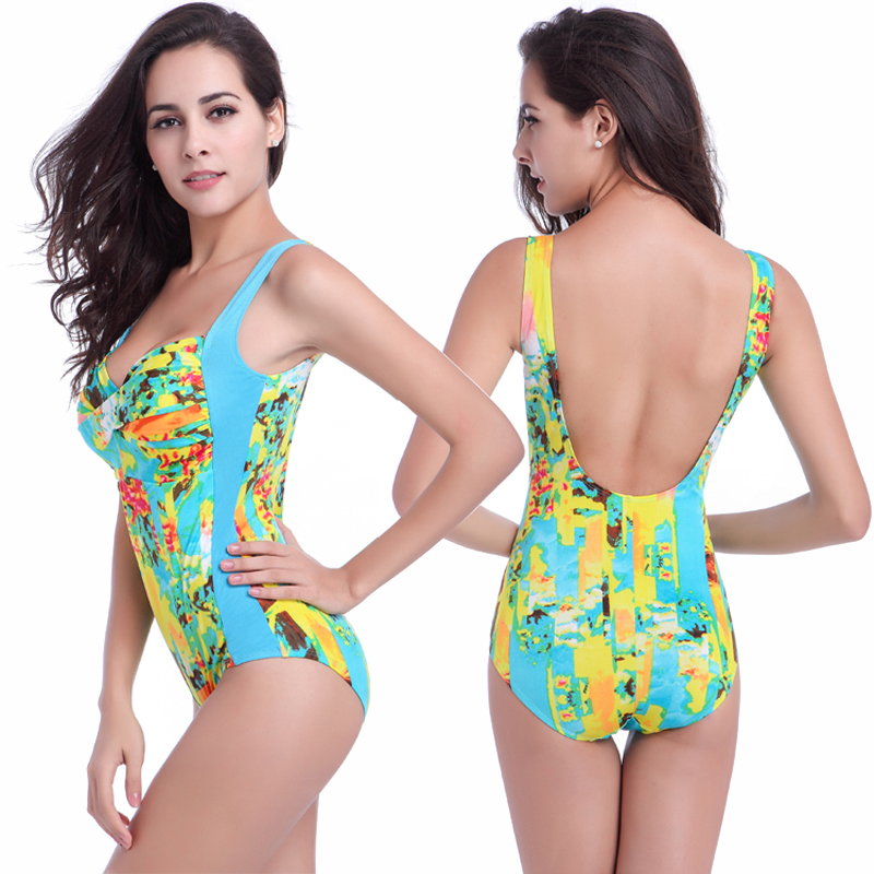 460233be70 Print One Piece Tankini Swimsuit Female Ladies Modest Beach Swimwear  Boutique Summer Bathing Suit Stores Online Patchwork Waist -in One-Piece  Suits from ...