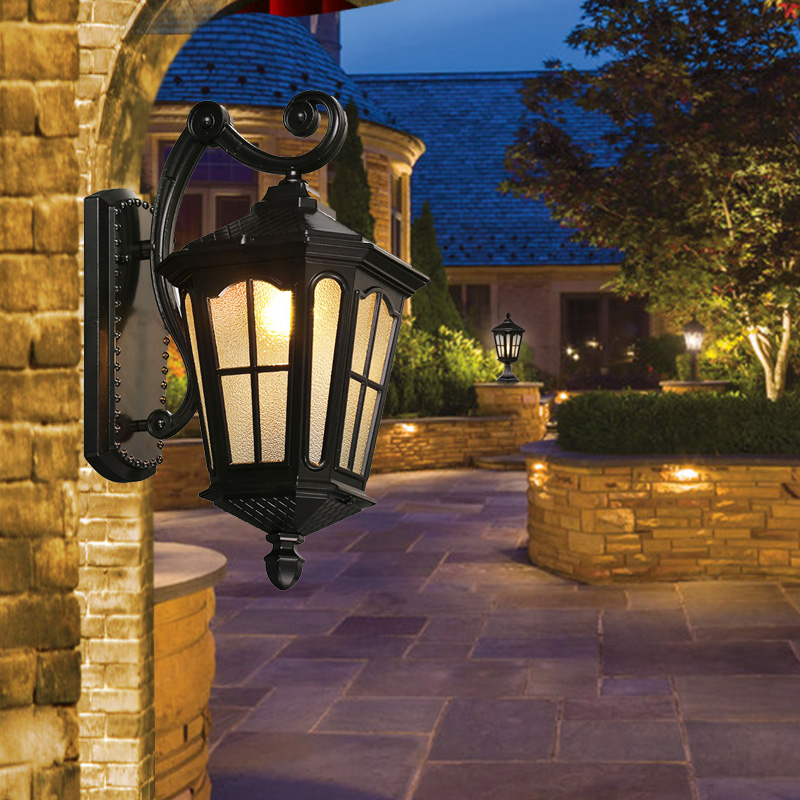 Buy led porch lights outdoor sconces wall for Outdoor landscape wall lighting