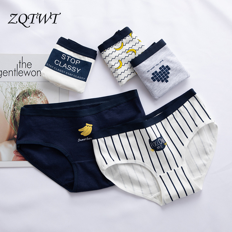 ZQTWT   Panties   For Women New Banana Printed Cotton Underwear Ladies Sexy Lingerie Women Casual Female Briefs Girl   Panties