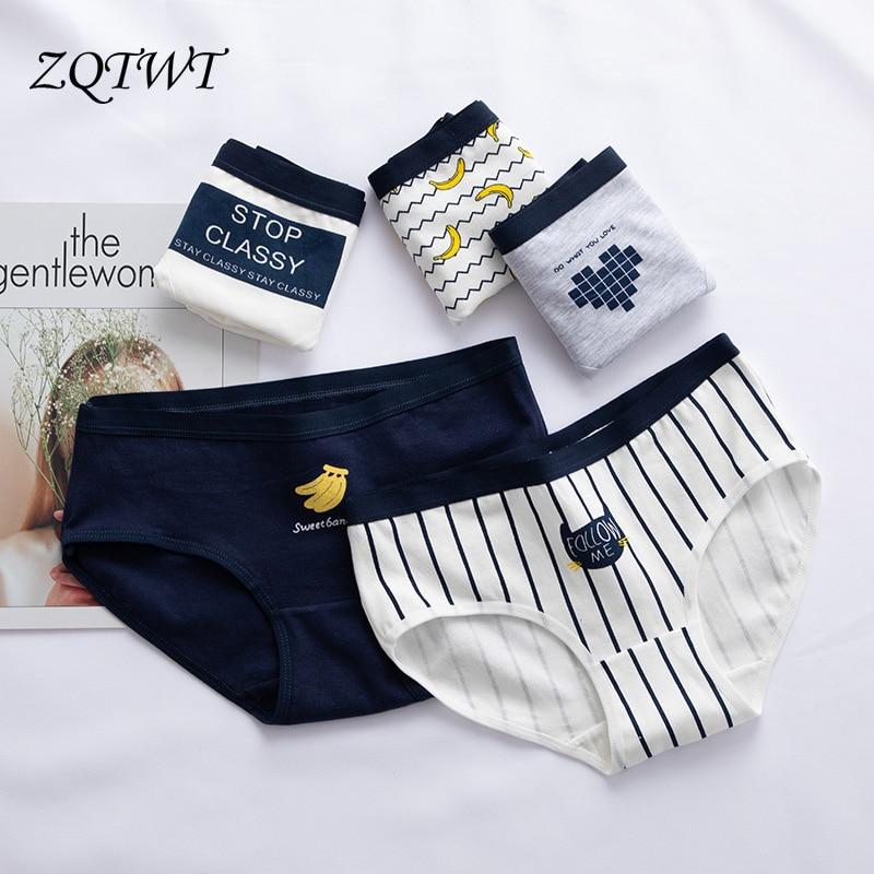 ZQTWT   Panties   For Women New Banana Printed Cotton Underwear Ladies Sexy Lingerie Women Casual Female Briefs Girl   Panties