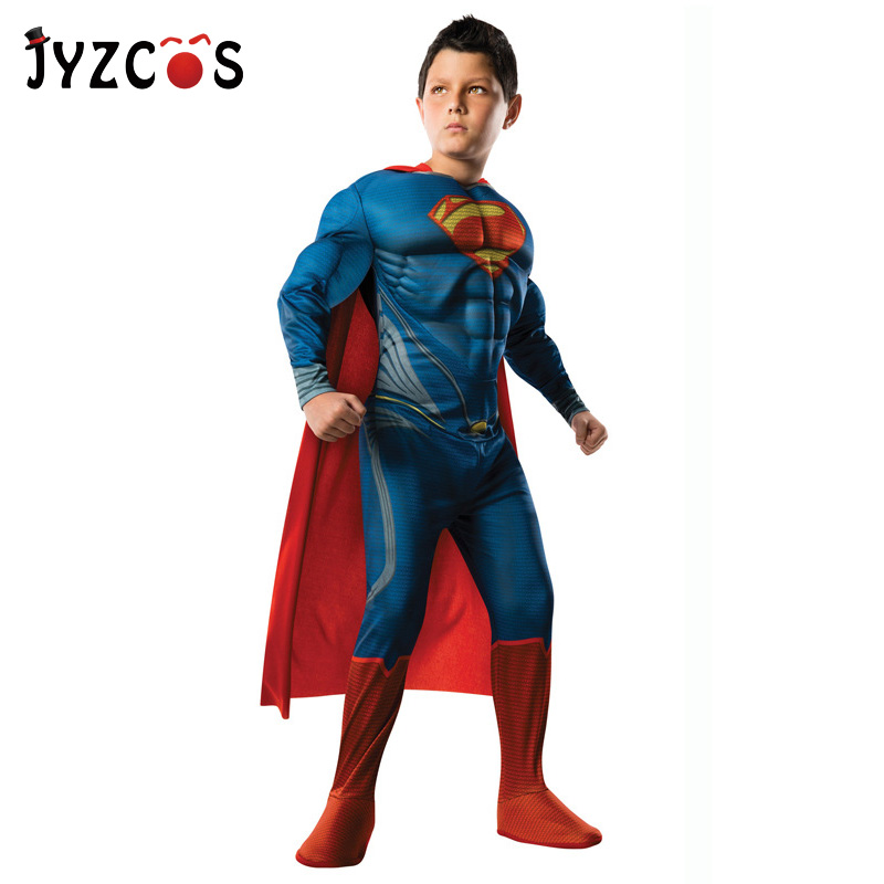 JYZCOS Superman Costumes Halloween Costumes For Kids Boys Anime Superhero Avengers Cosplay Purim Carnival Party Costume