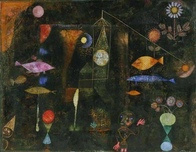 Haute qualité peinture à l'huile toile Reproductions poisson magique (1925) par Paul Klee peinture peint à la main