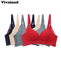 8ee96ec2c Small Chest Adjustable Floral Brassiere Transparent 3 4 Cup Push Up Women  Lace Bra Bralette Unpadded