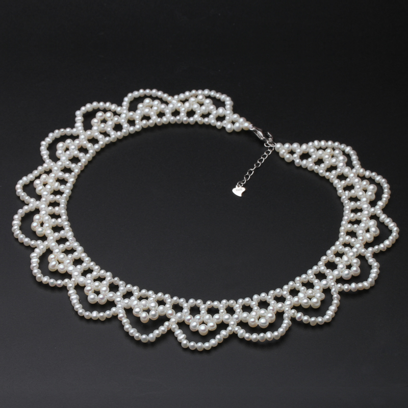 Wedding Real Natural Pearl Necklace For