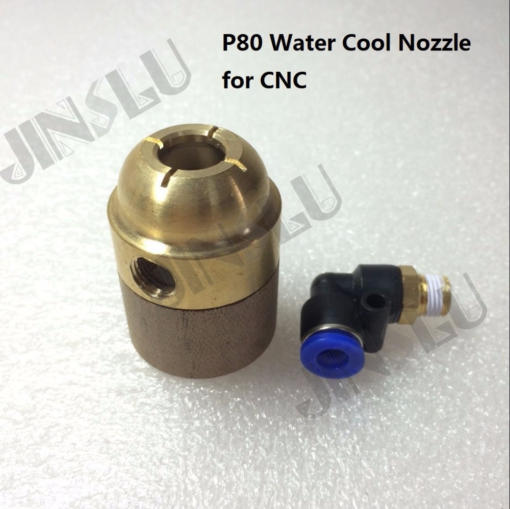 P-80 P80 Water Cooled Cooling Adpater Shiled CNC Auto Cutting Machine Plasma Torch  Straight Pilot Arc Plasma Torch Consumables