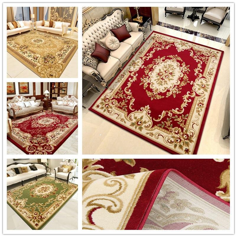 200*280 cm 2017 nouveau Style européen de luxe salon tapis chambre lit thé Table tapis rectangulaires tapis ménagers.