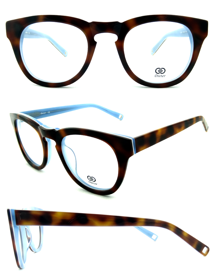 Glasses Frames For 60 Year Old Man : New Popular! Big Cycle Acetate Optical Frames Full Rim Cat ...
