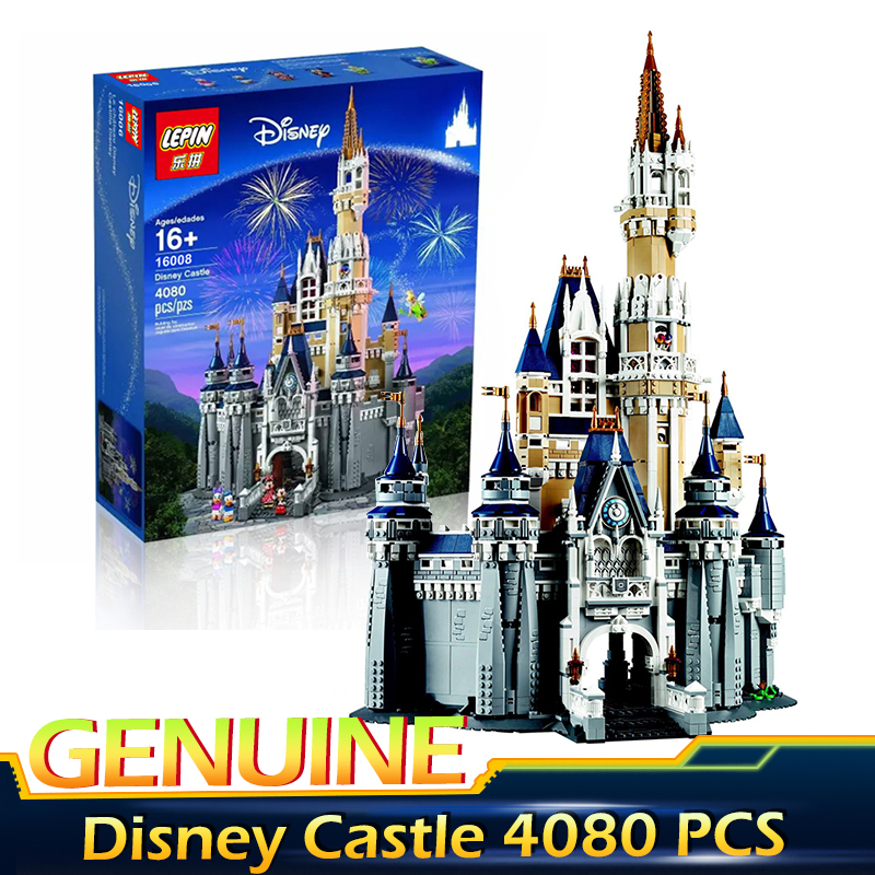 LEPIN 16008 4160Pcs Cinderella Princess Castle City Model Building Block Kid Educational Toys For Gift Compatible legoed 71040 lepin 22001 pirate ship imperial warships model building block briks toys gift 1717pcs compatible legoed 10210