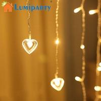LumiParty Elegant LED String Light Creative Curtain Lamp Hanging Romantic Pendant Night Light Festival Wedding Party