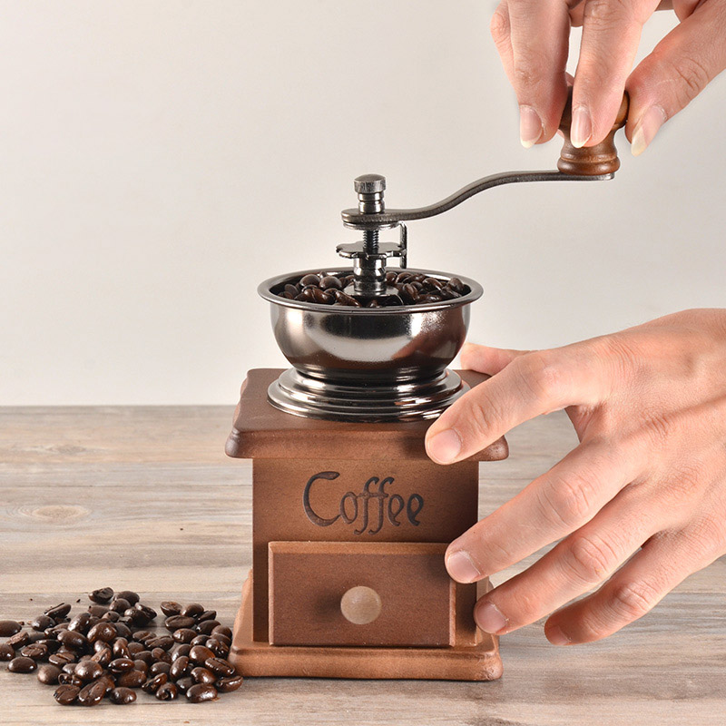 Fashion Coffee Spice Grinder Hand Grinding Machine Handle Crank Roller Drive Grain Burr Mill Tools High Quality HY99 JU26 hand grinder operated corn grain wheat spice mill machine tool cast iron pepper garlic grinding machine zf