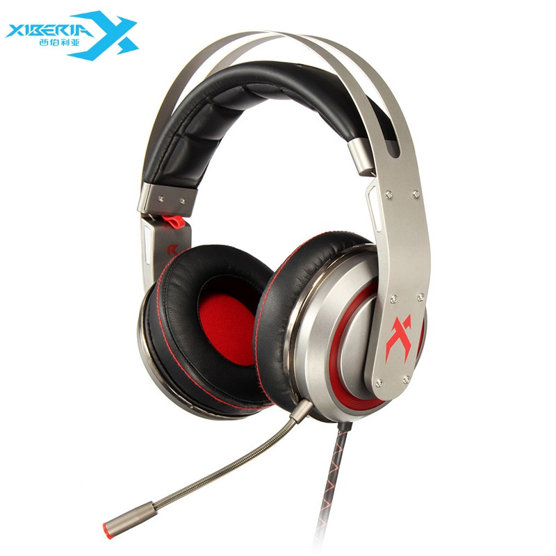 XIBERIA T19/S21 USB 7.1 Vibration Gaming Headset Headband Headphones With Microphone Deep Bass LED Light Gaming Headphone For PC