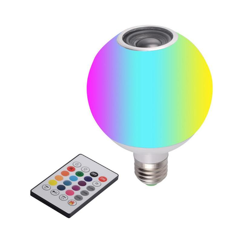 270 Degree Illumination Smart E27 RGB Bluetooth Speaker LED Bulb Light Dimmable With Remote Control