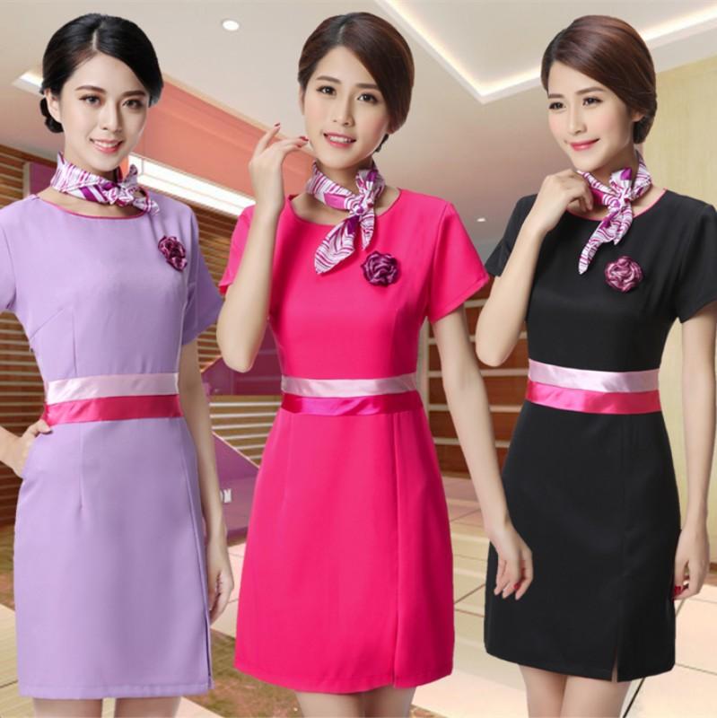 c39d14a48e7 New beauty salon uniforms dress red white black Pink beauty salon clothing  dress-in Nurse Uniform from Novelty & Special Use on Aliexpress.com    Alibaba ...