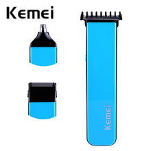 three in 1 Multifunction electrical hair clipper comfy Hair Trimmer nostril rechargeable trimmer Good high quality EU KM-3570