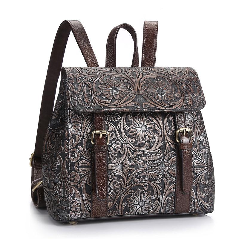 ผู้หญิงคุณภาพสูงวัวแยกหนังกระเป๋าเป้สะพายหลังแฟชั่น Vintage กระเป๋าเป้สะพายหลังหญิง Travel กระเป๋าเป้สะพายหลังแล็ปท็อปขายร้อน-ใน กระเป๋าเป้ จาก สัมภาระและกระเป๋า บน AliExpress - 11.11_สิบเอ็ด สิบเอ็ดวันคนโสด 1