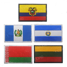 Flag Patch Ecuador Guatemala El Salvador Lithuania Belarus Embroidery Suitable For DIY Clothes Hook Surface