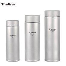 Tiartisan Isolierflasche Cup Isolierung Vakuum Doppelwand Wasserflasche Warmhalten Reinem Titan Flasche